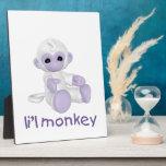 L'il Monkey (lavendar) Photo Plaques