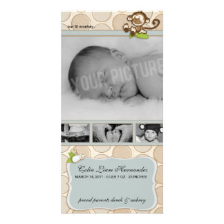 Lil Monkey New Baby Birth Announcements