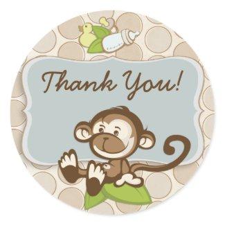Lil Monkey Thank You Sticker/label sticker