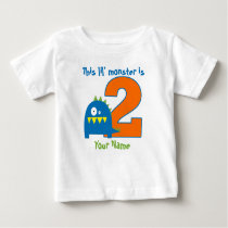 Lil Monster 2nd Birthday Personalized Shirt