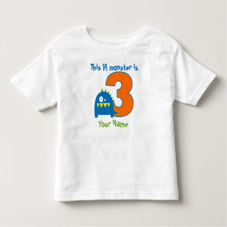 Lil Monster 3rd Birthday Personalized T-shirt