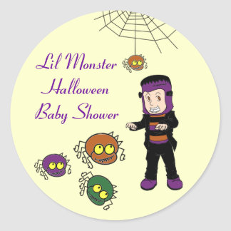 Lil Monster Baby Shower Stickers