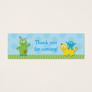Lil Monster Goodie Bag Tags Gift Tags