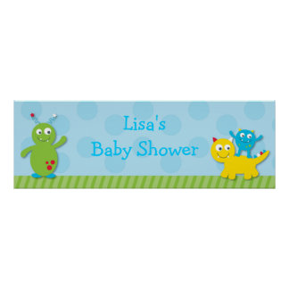 Lil Monster Personalized Banner Sign Posters
