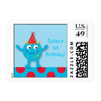 Lil Monster Personalized Postage Stamps