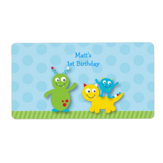 Lil Monster Water Bottle Stickers Labels
