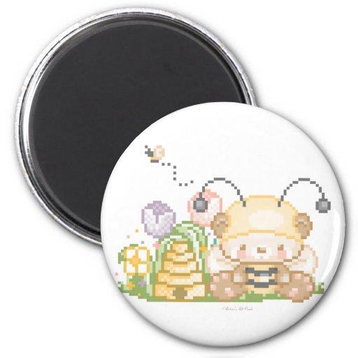 lil munchkinimalz panda7 2 inch round magnet