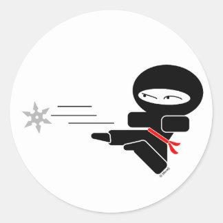 Lil' Ninja Classic Round Sticker