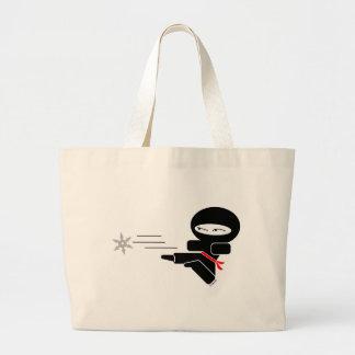 Lil' Ninja Large Tote Bag