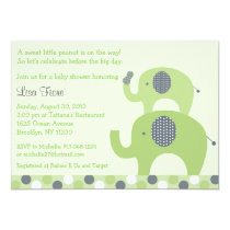 Lil Peanut Elephant Baby Shower Invitations