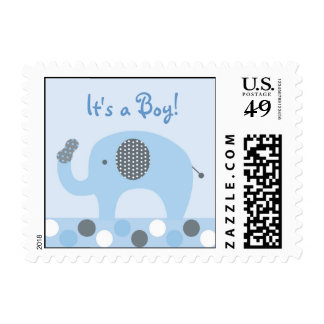 Lil Peanut Elephant Personalized Postage Stamps