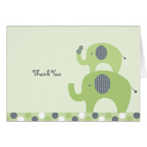 Lil Peanut Elephant Thank You Note Cards