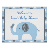 Lil Peanut Elephant Welcome Sign