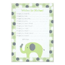 Lil Peanut Elephant Wishes for Baby Card