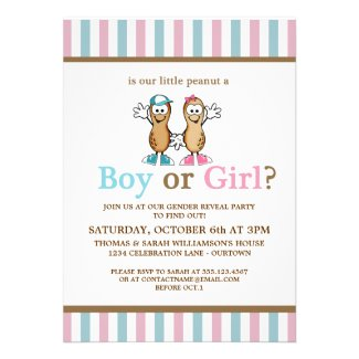 Lil Peanut Gender Reveal Party Invitation