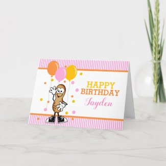 Lil Peanut Personalized Birthday Greeting Card