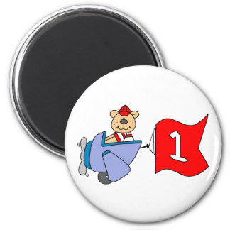 Lil Pilot Bear 1st Birthday Magnet