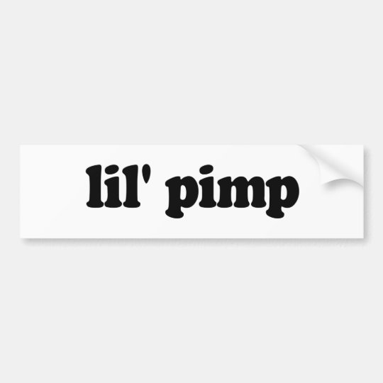 Lil pimp bumper sticker