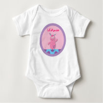 Lil Pink Monster Personalized Baby T-Shirt