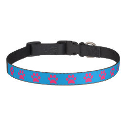 Lil Pink Paws Your Background Color Pet Collar