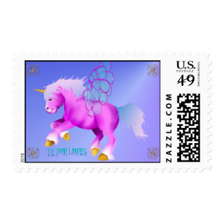 'Lil Pink Unipeg mousepad Postage Stamps