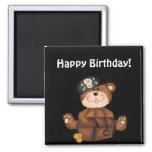 Lil Pirate Bears Happy Birthday Magnet