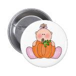 Lil Pumpkin Baby Girl Pinback Button