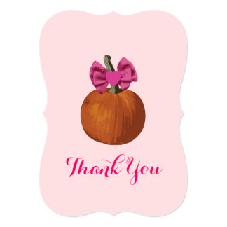 Lil Pumpkin Baby Shower Thank You Invites