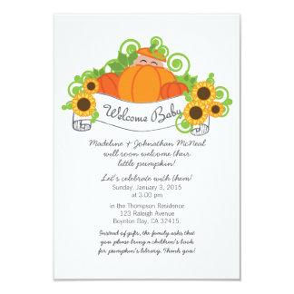 lil' pumpkin FALL BABY SHOWER invitation med skin