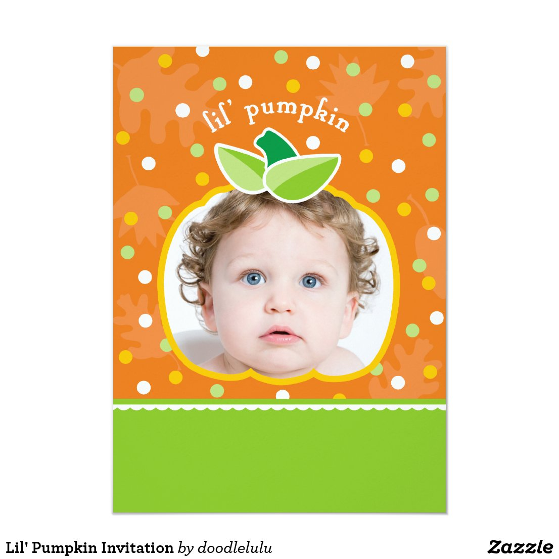 Lil' Pumpkin Invitation