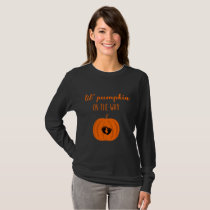 Lil' Pumpkin on Way Halloweem Pumpkin Maternity T-Shirt