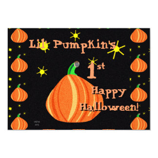 Lil' Pumpkin's 1st Halloween Single Page Greeting Card