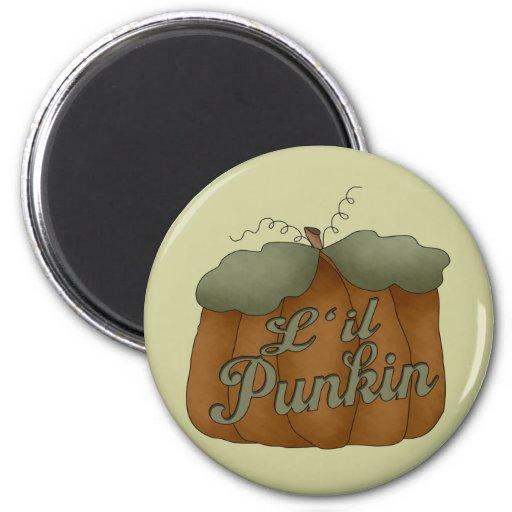 L'il Punkin Round Magnet