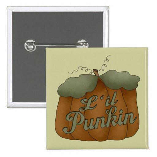 L'il Punkin Square Button