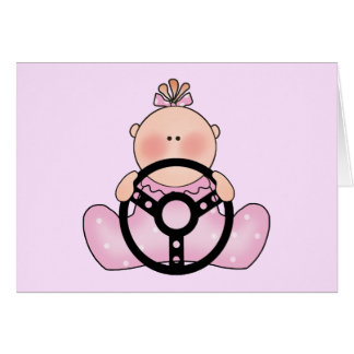 Lil Race Baby Girl Card