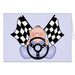 Lil Race Winner Baby Boy Card