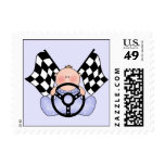Lil Race Winner Baby Boy Postage Stamps