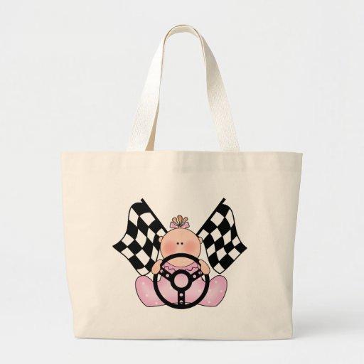 Lil Race Winner Baby Girl Large Tote Bag