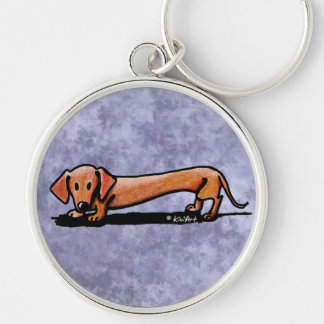 Lil' Red Doxie Keychain