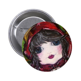 Lil' Red Riding Hood 2 Inch Round Button