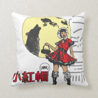 Lil Red Riding Hood b&r Throw Pillow