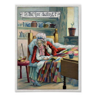 Lil' Red Riding Hood's GranMa Vintage Art Poster
