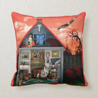 Lil' Red & The Three Bears Throw Pillow