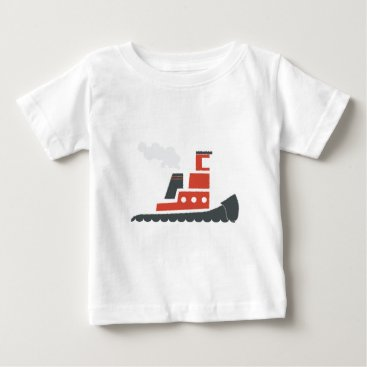 Beach Themed Lil Red Tugboat Baby T-Shirt