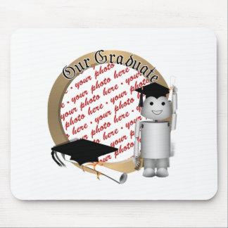 Lil'  Robo-x9 Got His Diploma!!! Photo Frame Mouse Pad
