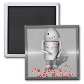 (Lil' Robo-x9) Love Machine Magnet
