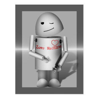 (Lil' Robo-x9) Love Machine Postcard