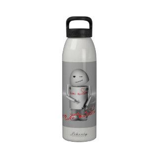 Lil Robo-x9 máquina del amor fondo del metal Botellas De Beber