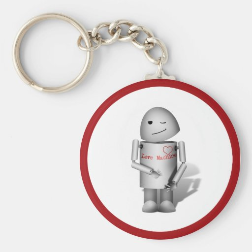(Lil Robo-x9) máquina del amor Llavero Redondo Tipo Pin