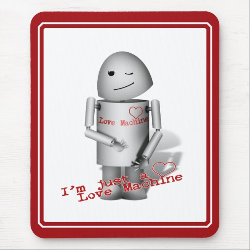 (Lil Robo-x9) máquina del amor Mousepads